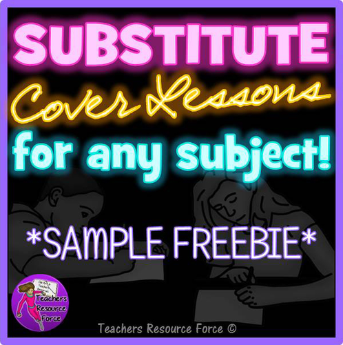 FREE Supply Cover Lesson Idea and worksheets