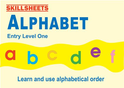 ALPHABET - Entry Level 1