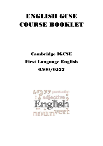 Cambridge IGCSE English Revision Papers 1 and 3 by
