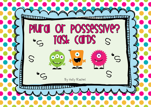 Plural or Possessive Activity Cards