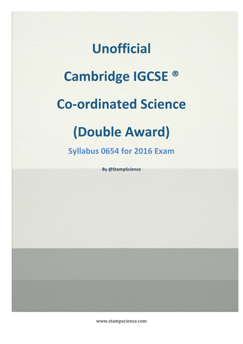 IGCSE Coordinated Science Revision guide 0654 2016 and 2017/2018 Editions
