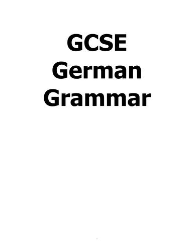 GCSE German Grammar/Preparation for AS Level