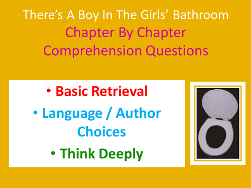 There's a boy in the girls' bathroom - Chapter by Chapter Guided Reading