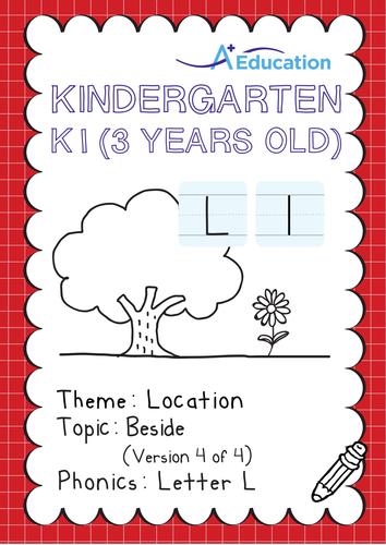 Location - Beside (IV): Letter L - Kindergarten, K1 (3 years old)
