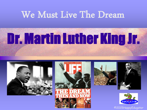 Martin Luther King Jr. PowerPoint and Writing Assignment