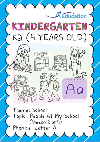 School - People at My School (II): Letter A - Kindergarten, K2 (4 years old)