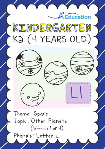 Space - Other Planets (I): Letter L - Kindergarten, K2 (4 years old)