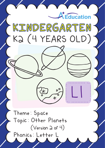 Space - Other Planets (II): Letter L - Kindergarten, K2 (4 years old)