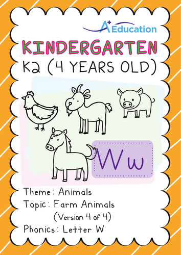 Animals - Farm Animals (IV): Letter W - K2 (4 years old)