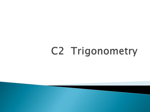 Trigonometry in a non right angle triangle. Sine and Cosine rule, graphs and identities.