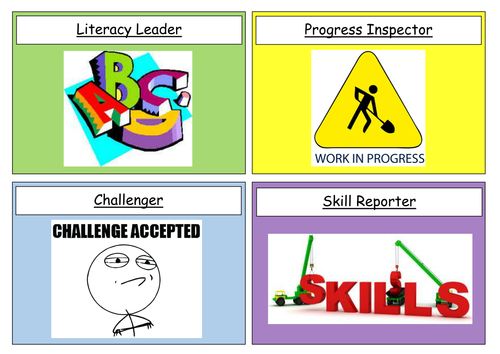 Student role cards for engaging students, challenging higher ability and promoting leadership