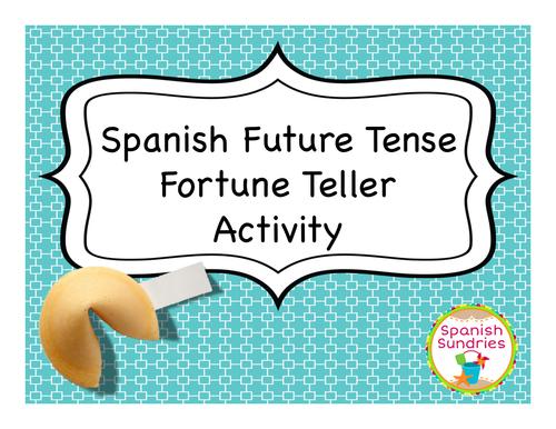 Spanish Future Tense Fortune Teller Activity