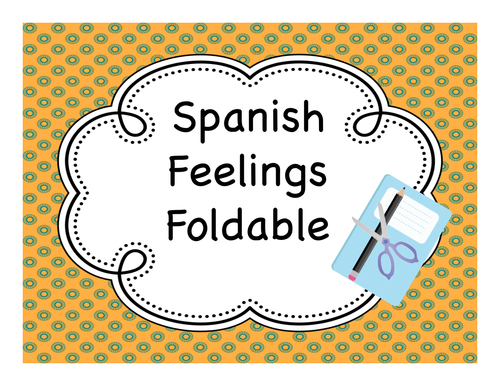 Interactive Notebook - Feelings (Sentimientos) Fold-it