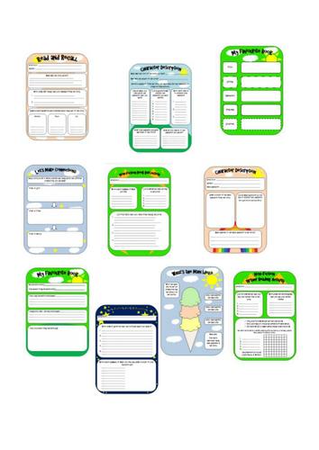 Reading comprehension worksheet pack