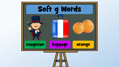 Words containing the soft 'g' sound - PowerPoint Lesson and Set of ...
