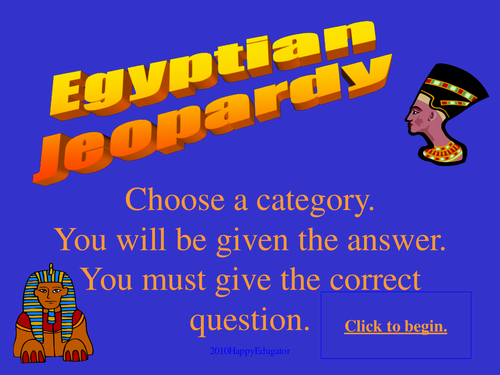 Ancient Egypt Game Show PowerPoint