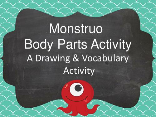 Monstruo Body Parts Activity