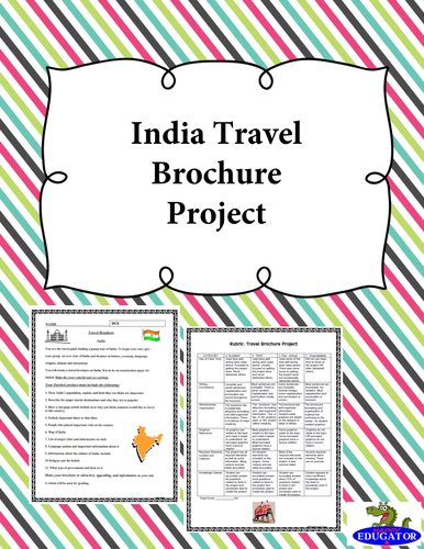india travel brochure project by happyedugator teaching resources