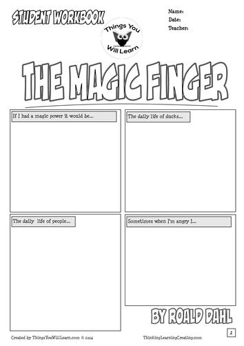 The Magic Finger Workbook:- Roald Dahl by teachercellar