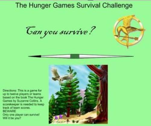 Hunger Games Survival Challenge SmartBoard Game