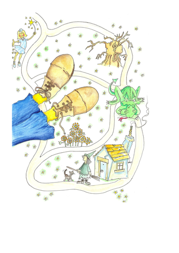 Traditional tales story map - storytelling, writing and speaking and listening development