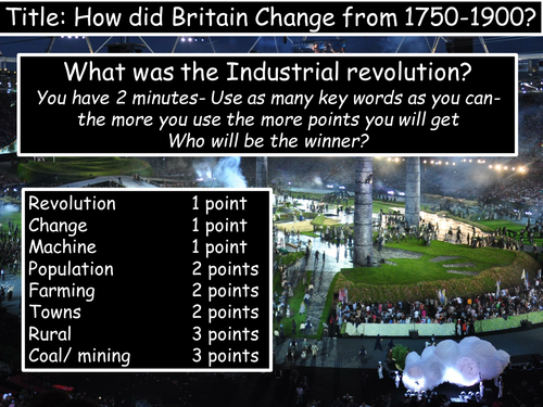 Industrial Revolution SOW 1750-1900 (12  Lessons) medicine- population- mining- factories- towns
