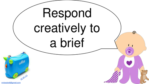 Respond Creatively to a Brief Slides and Printable Worksheet