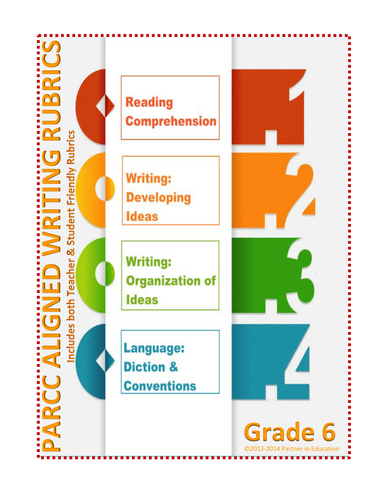 Grade 6: Student & Teacher Friendly Common Core & PARCC Aligned Writing Rubric