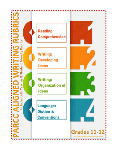 Grade 11-12: Student & Teacher Friendly Common Core & PARCC Aligned Writing Rubric