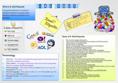 E-Mail Etiquette Poster