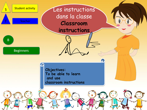 classroom instruction in french les instructions dans la classe by foxtrotters teaching. Black Bedroom Furniture Sets. Home Design Ideas