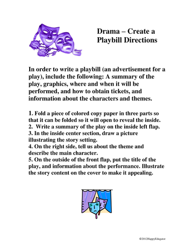 Drama Playbill Project