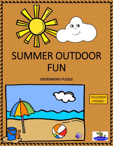 Summer Outdoor Fun Crossword Puzzle