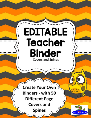 editable teacher binder covers pink polka dots by happyedugator