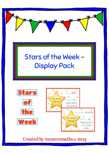Stars of the Week – Display Pack