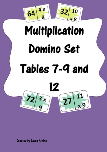 Mulitplication dominoes by uk teaching resources tes - Domino table de multiplication ...