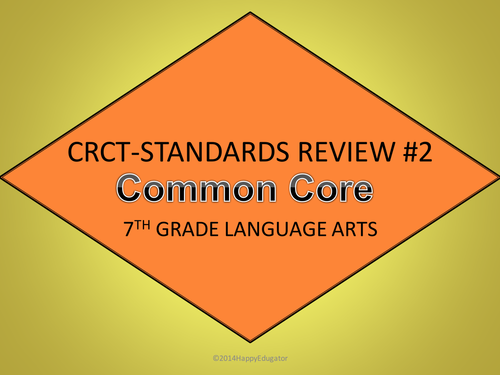 Test Prep 7th Grade Language Arts Standards Review Interactive