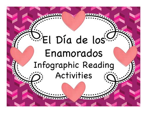 El Día de los Enamorados / San Valentín Infographic Reading Activities