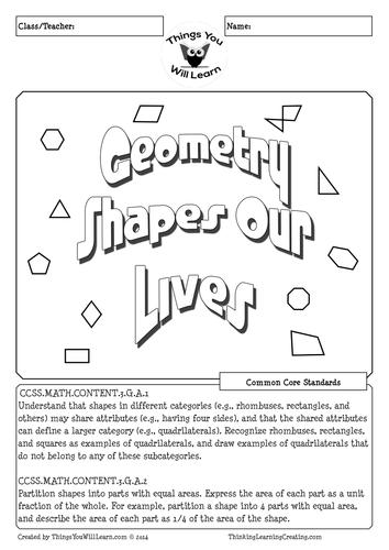 Geometry 2D Shapes Worksheet
