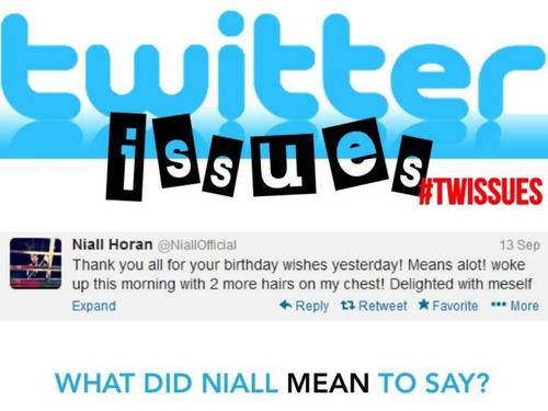 TWITTER ISSUES -  Correct the Spelling and Grammar of Celebrities!