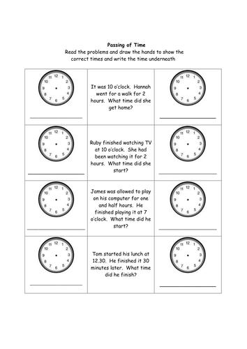 Time - Problem Solving