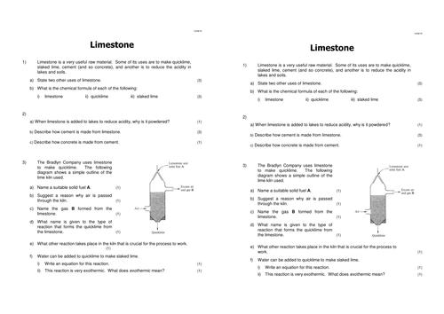 Uses of Limestone, Limestone and Building Materials, Lesson 1 (AQA 1.2.1) Complete lesson.
