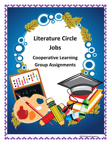 Literature Circle Jobs - Cooperative Learning Assignments