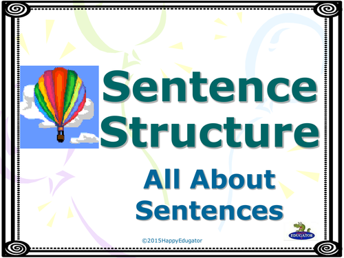 Sentence Structure: All About Sentences PowerPoint