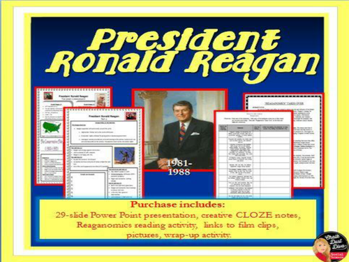 President Ronald Reagan Power Point Lecture Presentation (U.S. History)