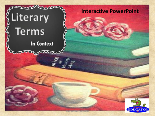 Literary Terms in Context PowerPoint