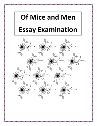 conflict in of mice and men essay