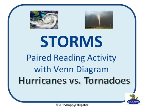 Storms Hurricanes Vs Tornadoes By Happyedugator Teaching