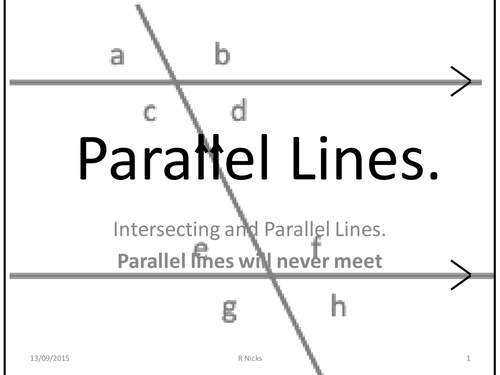 Parallel Lines and intersection