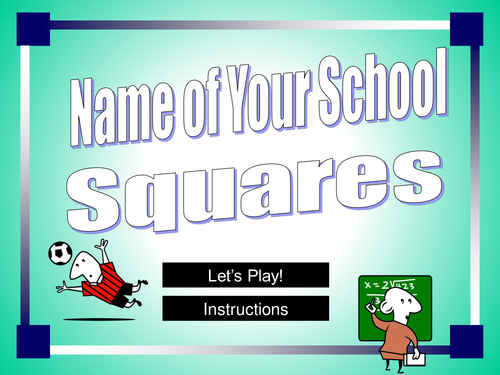 Squares Powerpoint Game Template By Happyedugator Teaching